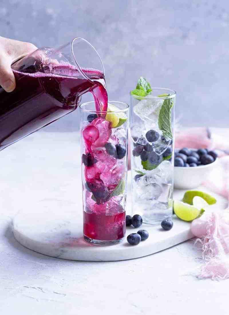 Blueberry Ginger Refresher - Fruit Refreshers Recipe Online - Mocktail.net