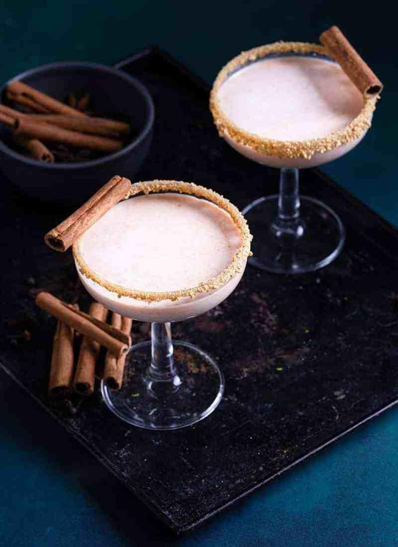 Pumpkin Pie Martini Mocktail - Easy Mocktails Recipes - Mixed Drink Recipes