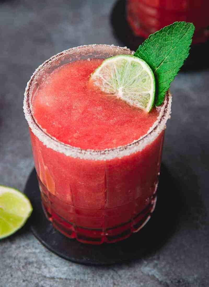 Fresh Watermelon Margarita Recipe - Fruit Juices Recipe Online - Mocktail.net