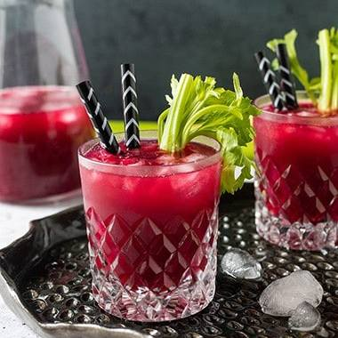 Beet Greens and Grapefruit Juice