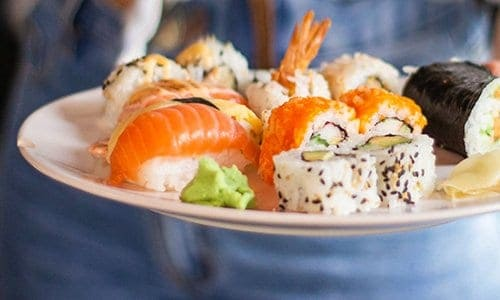 sushi eat and drink