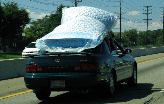 How Not To Carry A Mattress On Your Car Right Driver Highway Code Resources