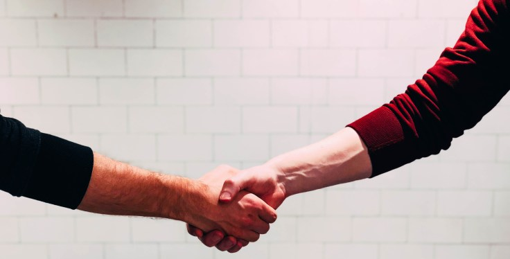 JIERCHEN Mockup Handshake Illustration
