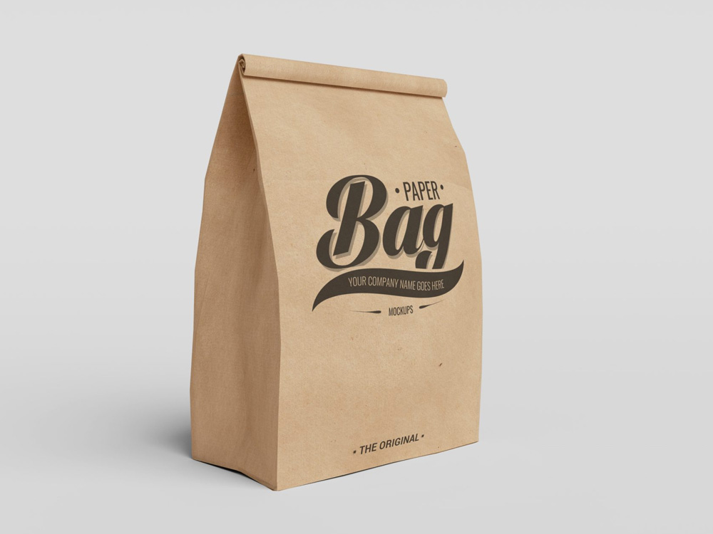 Download Free Mockups : Set of Paper Bag Packaging PSD Mockups