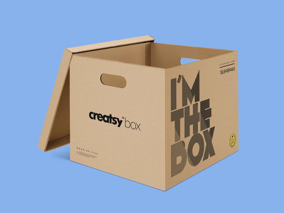 Download Cardboard Box Mockup - Mockup Love