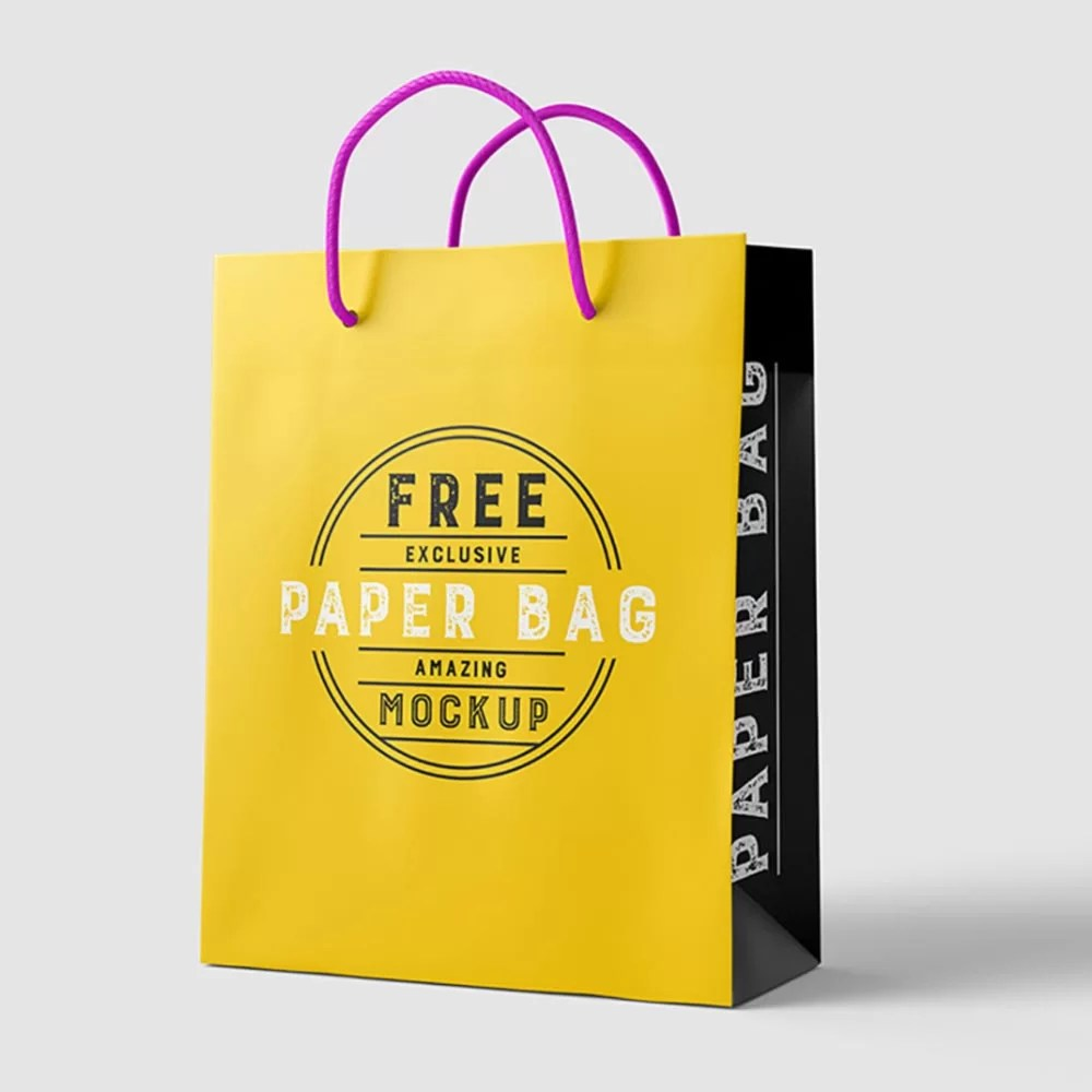 Food bag mockup, kraft bag mockup, bag mockup psd, come in psd photoshop files. Paper Bag Mockup Free Psd Mockup City