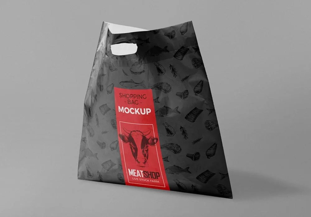 You can also change the color of the straps of the tote bag, the lanyard of id card, the outline of the cardholder, inner sides of both bags, lid of the cup and base of the cup. Free Plastic Bag Psd Mockup Mockup City