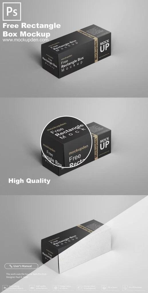 Download Free Rectangle Box Mockup PSD Template | Mockup den