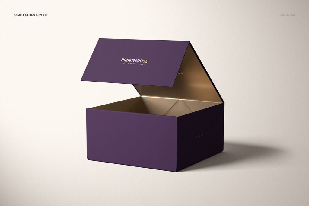 Download Free Luxury Magnetic Gift Box Mockup Set PSD Template