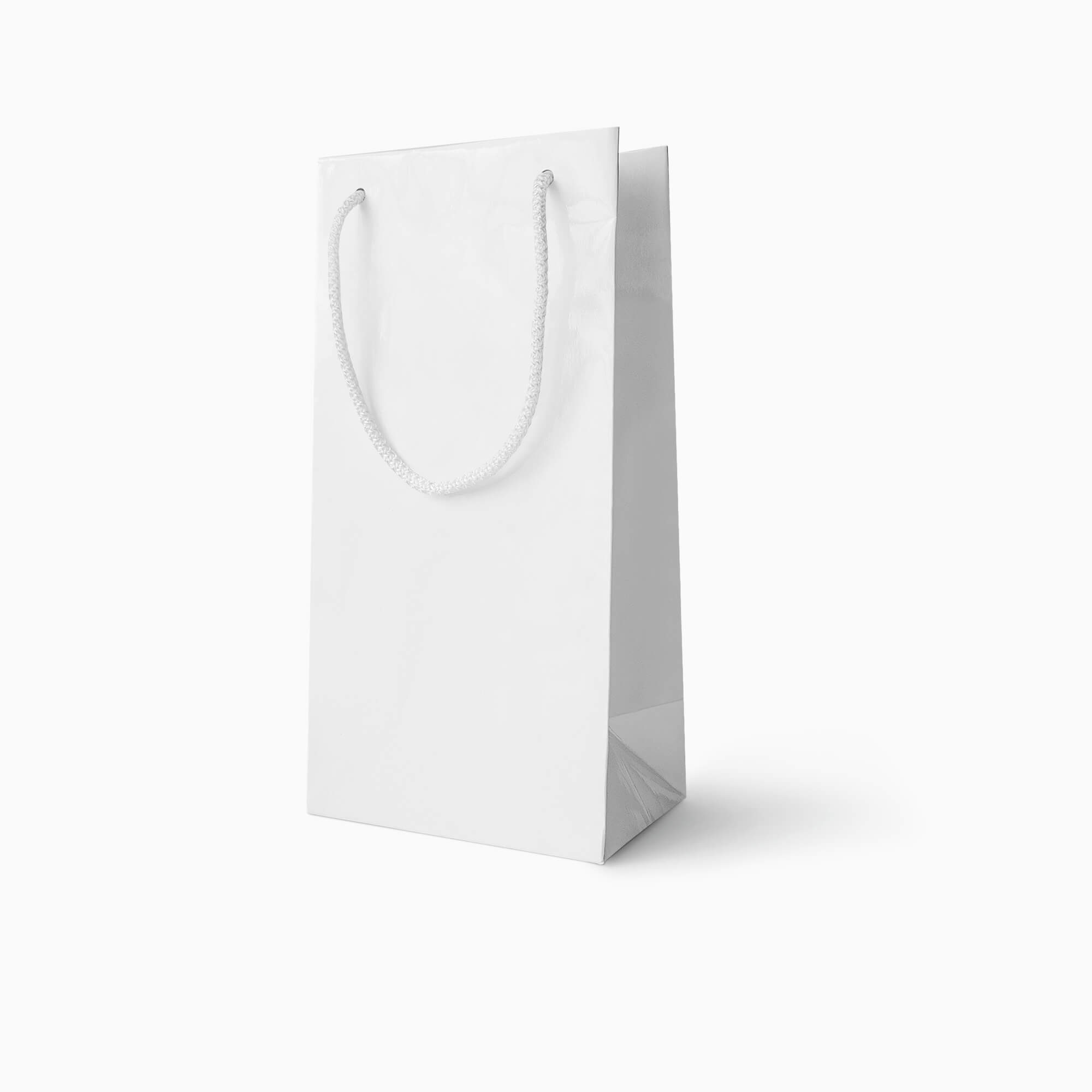 White shopping bag with handles. Free White Paper Bag Mockup Psd Template Mockup Den