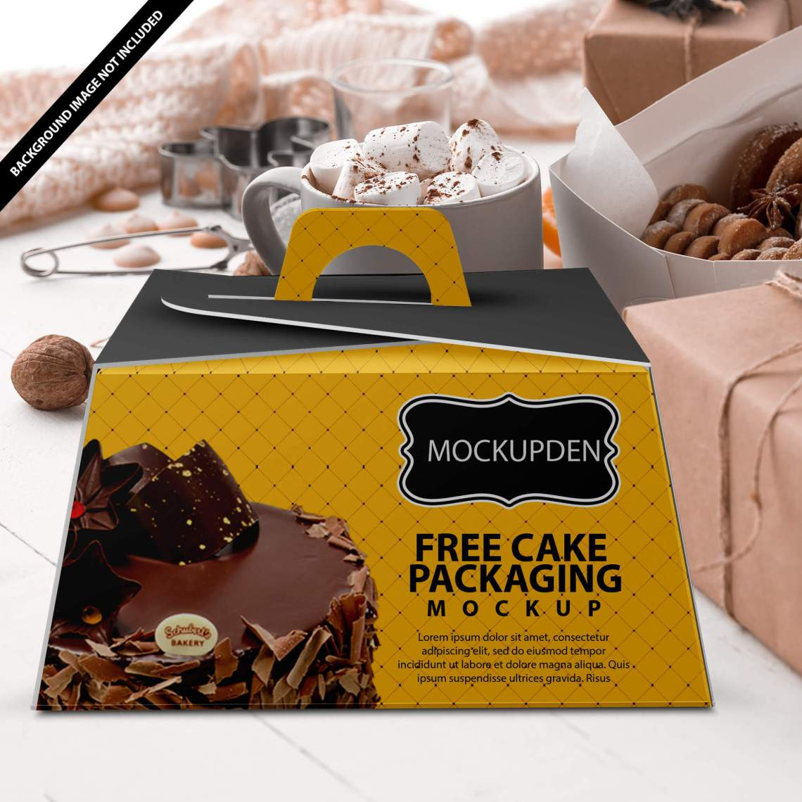 Download Best Cake Box Mockup | 30+ Free & Premium Cake Packaging PSD