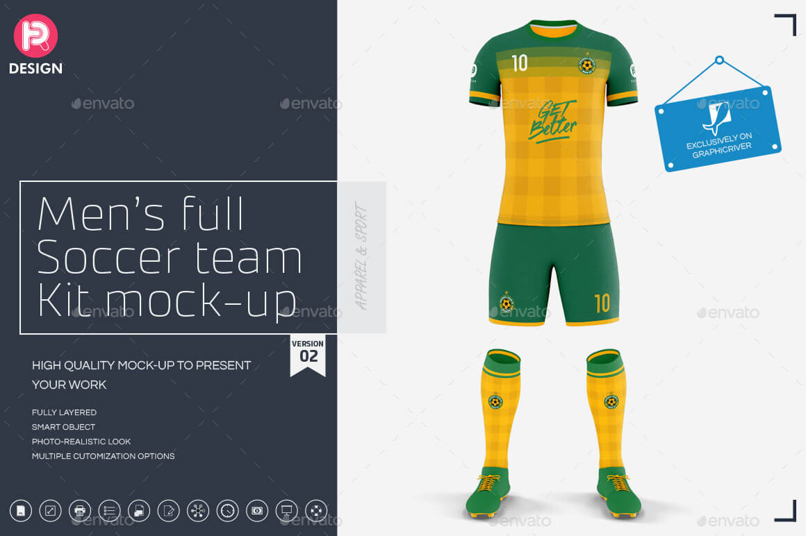 free for commercial use high quality images 20 Useful Football Kit Mockup Psd Templates Mockup Den