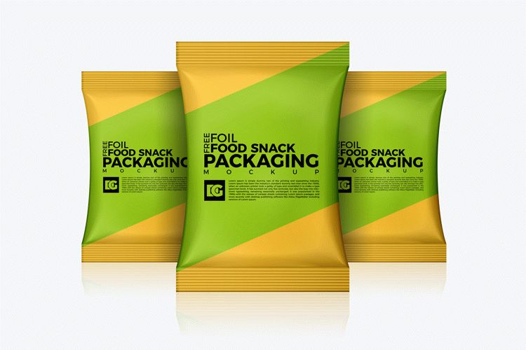 Download Free Foil Food Snack Packaging Mockup | Download