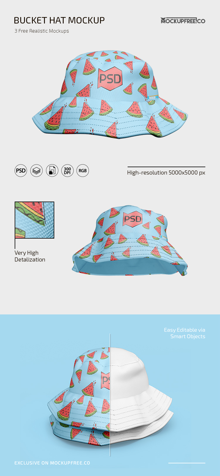 A set 14 psd files, this pack is the quintessential pack for someone who is getting started on working on high quality bucket hats. Free Psd Bucket Hat Mockup Template Mockupfree Co
