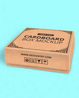 Download Free Realistic Cardboard Box Mockup | Download