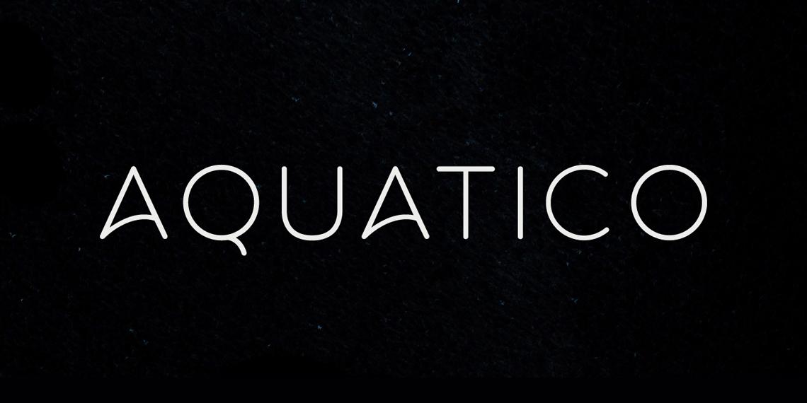 Download Aquatico Free Typeface - Mockupfreebies