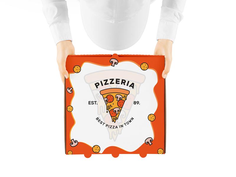 Download Free Pizza Box PSD MockUp Template - Mockup Free Downloads