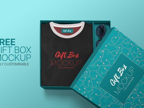 Download 30+ Best Free Gift Box Mockups - Mockup Free Downloads