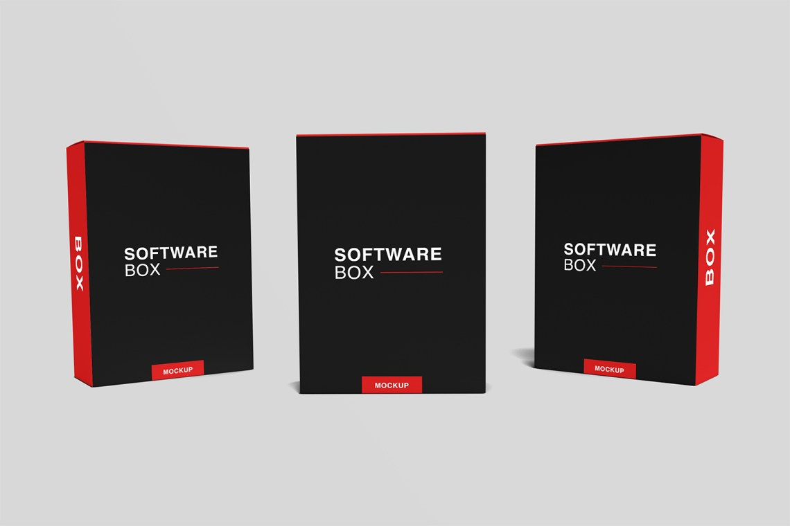 Download Free Realistic Software Box Mockup - Mockup Free Downloads
