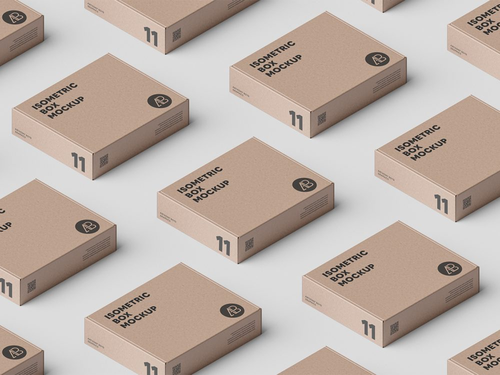 Download Free Box Grid PSD Packaging Mockup - Mockup Free Downloads
