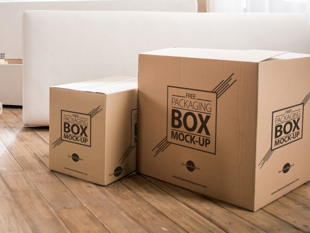 Download Free Packaging Box on Wooden Floor PSD Mockup - Mockup ...