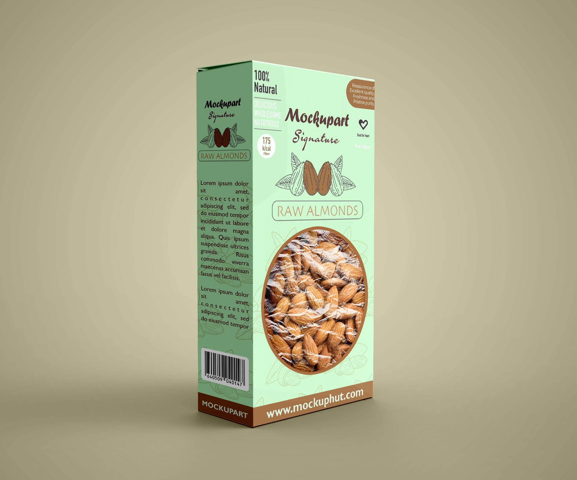Easily place your logo or branding designs, you also can change the background. Free Almond Box Mockup Mockuphut Exclusive Mockup Hut