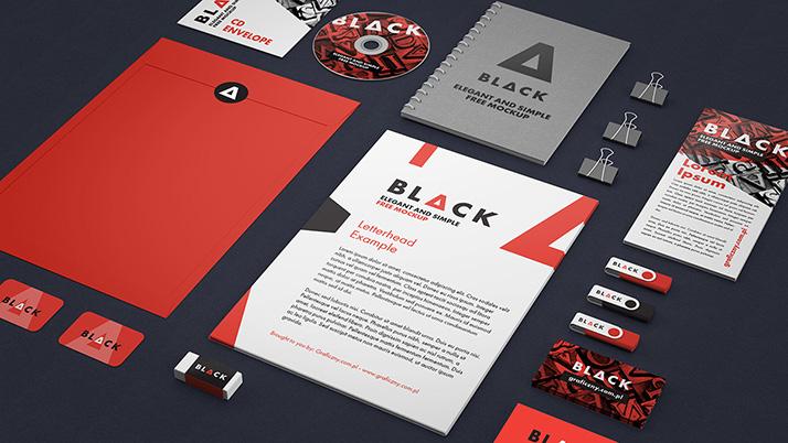 Corporate Identity Mockup Mockups Design Free Premium