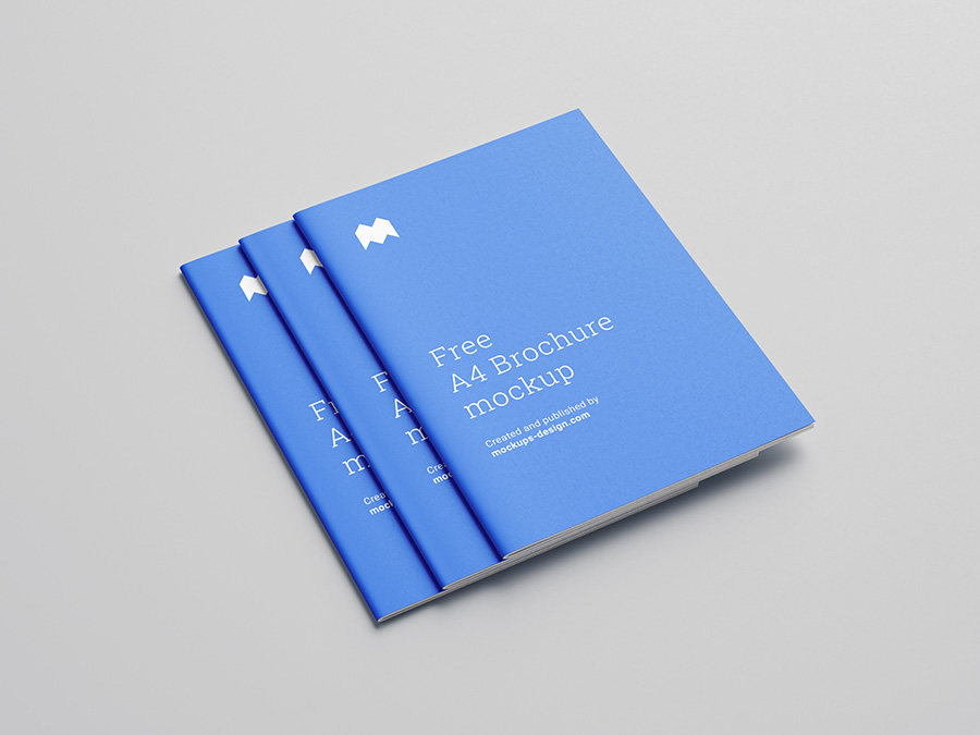 Download Free A4 brochure mockup - Mockups Design | Free Premium ...