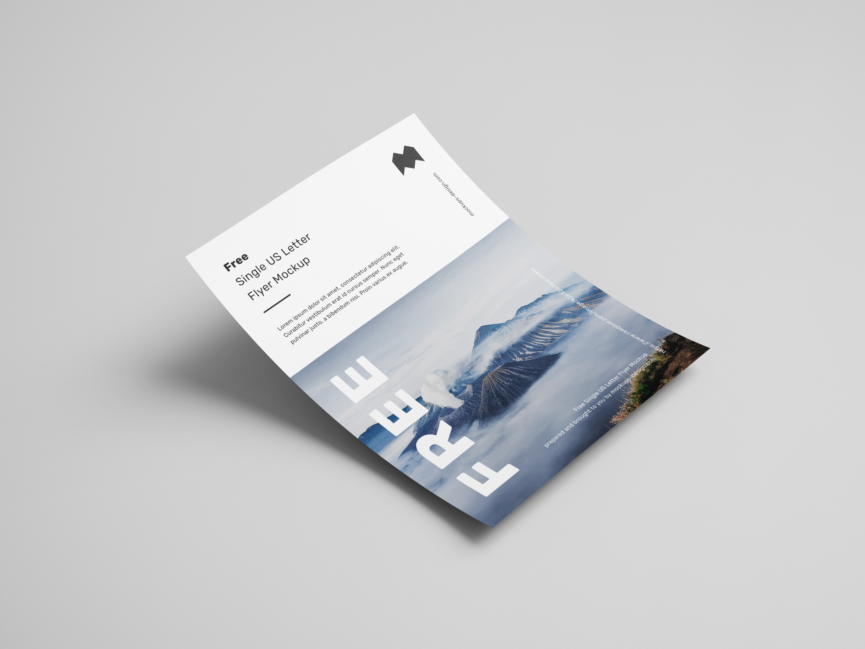 Free single US letter flyer mockup  Mockups Design  Free