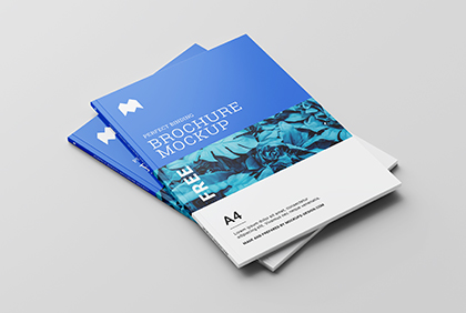The layers are well named and organised making easier to modify the colors and the smart objects. Free Brochure Mockups Mockups Design