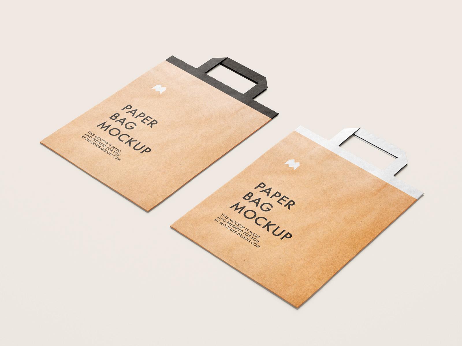 Download free bag mockup format : Free Flattened Paper Bag Mockup Mockups Design