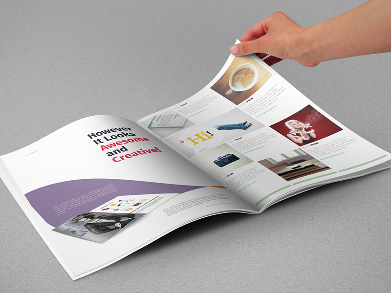 You just need replace your own editorial design into the smart object. A4 Magazine With Hand Psd Mockup Mockupsq