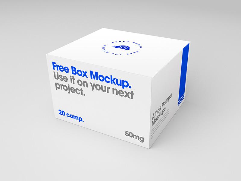 Download Simple Box PSD Mockup   MockupsQ
