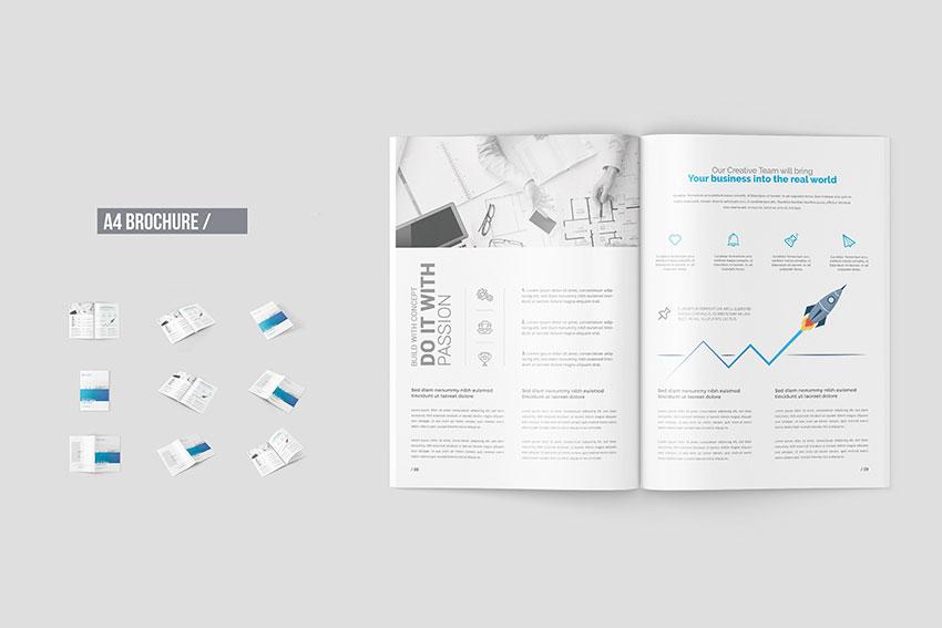 Download 12+ Free A4 Brochure Mockup Templates | Mockuptree