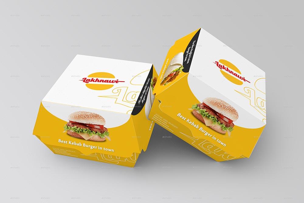 Características da embalagem para combos: 15 Great Burger Mockup Psd Templates Mockuptree