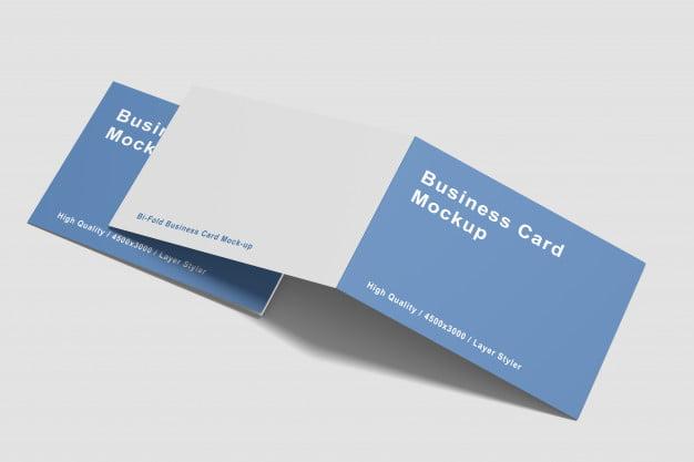 15 folded card mockup psd templates