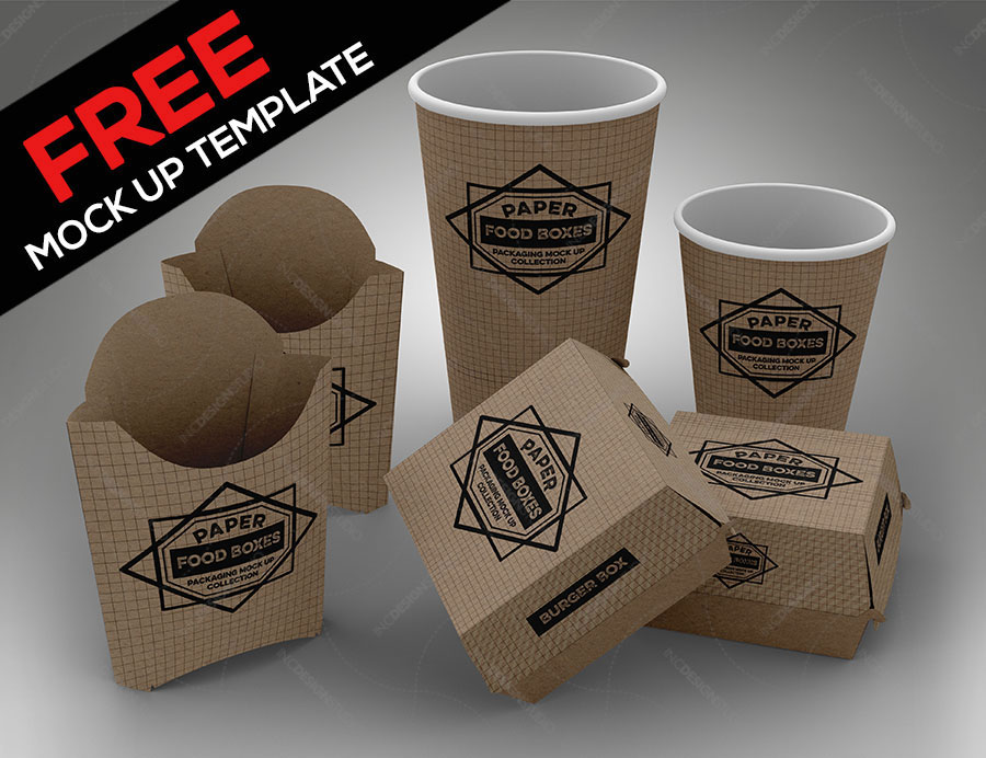 Download Free Fast Food Box Mockup | Mockuptree