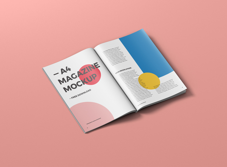 Download Free Paper A4 Magazine Mockup | Mockuptree