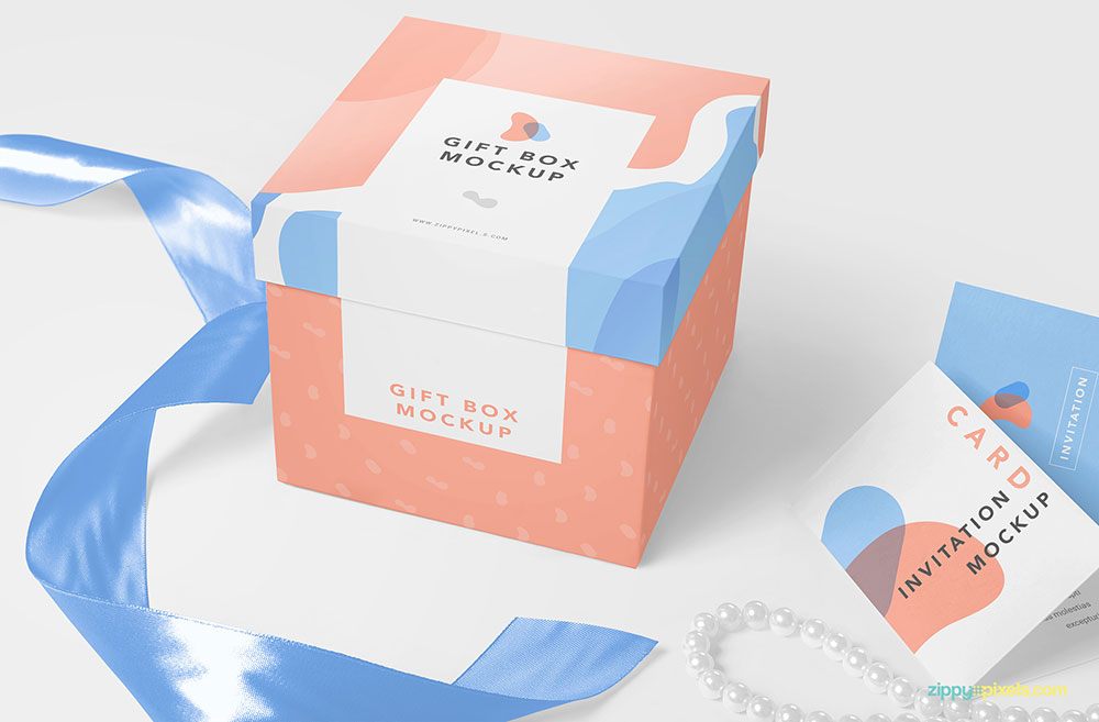 Download Free Luxury Gift Box Mockup | Mockuptree