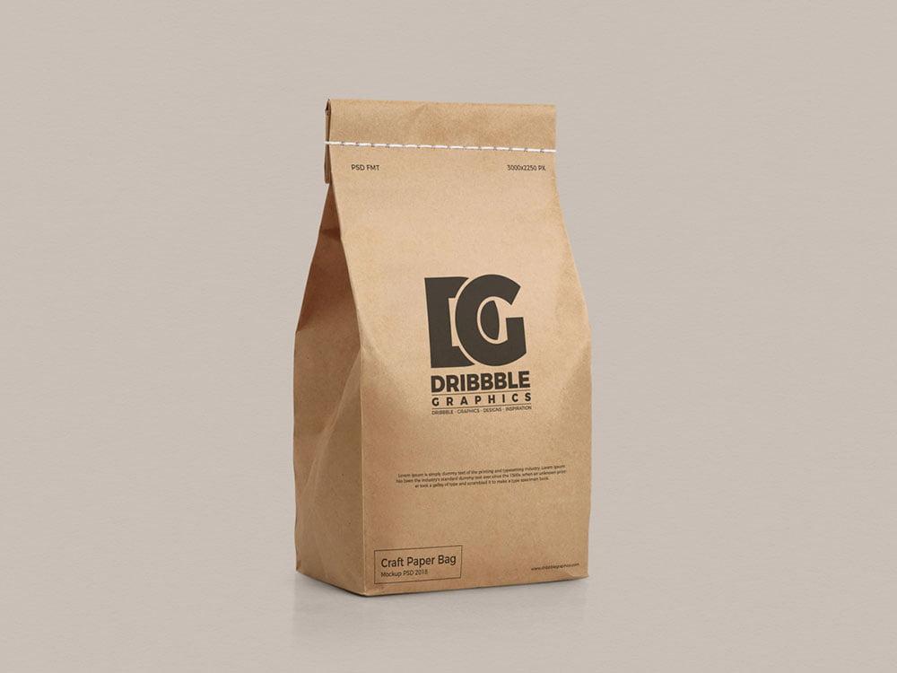 flour bag psd mockup free download. Free Craft Paper Bag Mockup Mockuptree