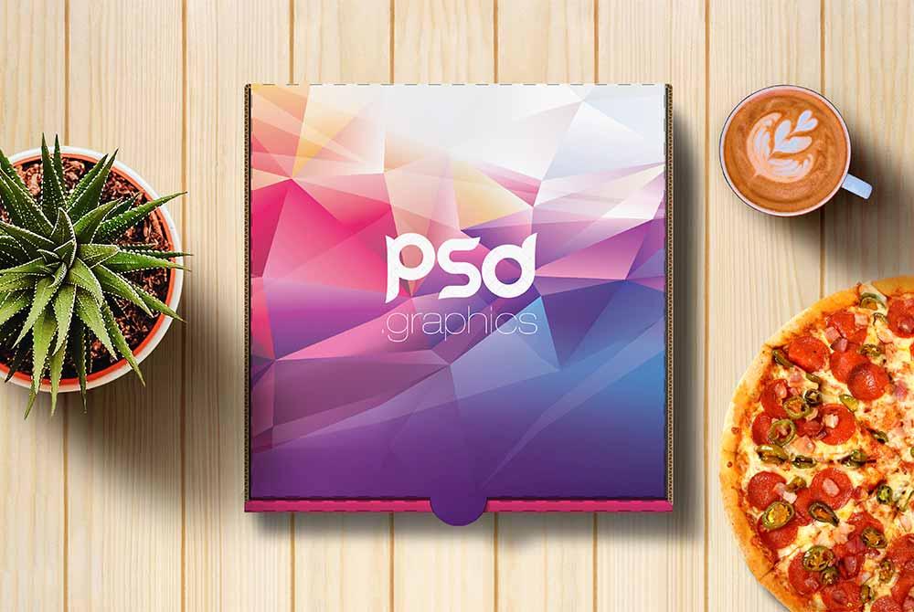 free pizza box mock
