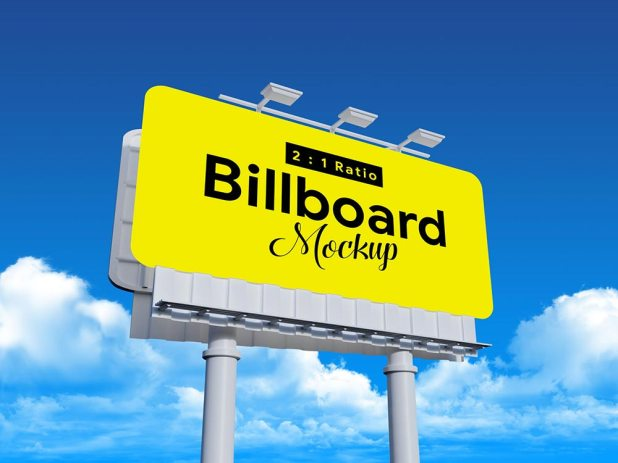 Free Outdoor Advertising Rounded Corvers Billboard Mockup - IN PP GIÁ RẺ TẠI CMYK CẦN THƠ