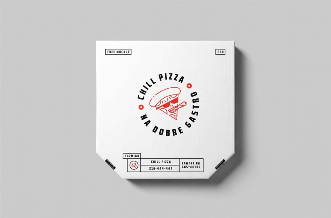 Download Free PSD Pizza Box Mock-up | Mockuptree