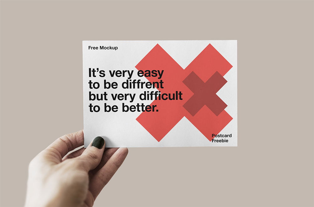 So, it can be used not only personally but also professionally to greet your friends, family, or colleagues. Free Postcard Mockup In Hand Mockuptree