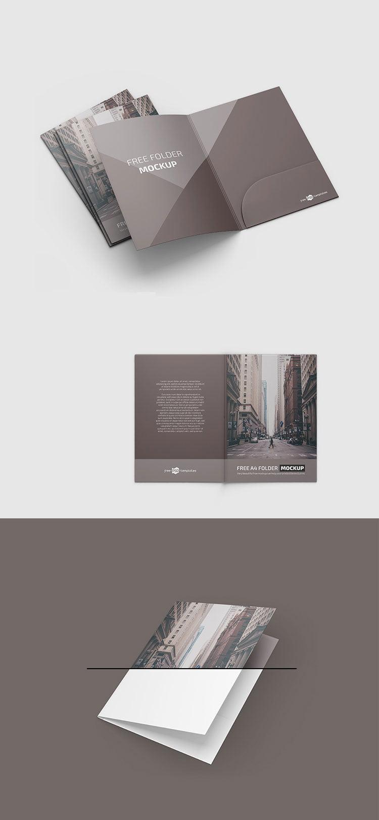 Download Free A4 Folder Mockup | Mockuptree