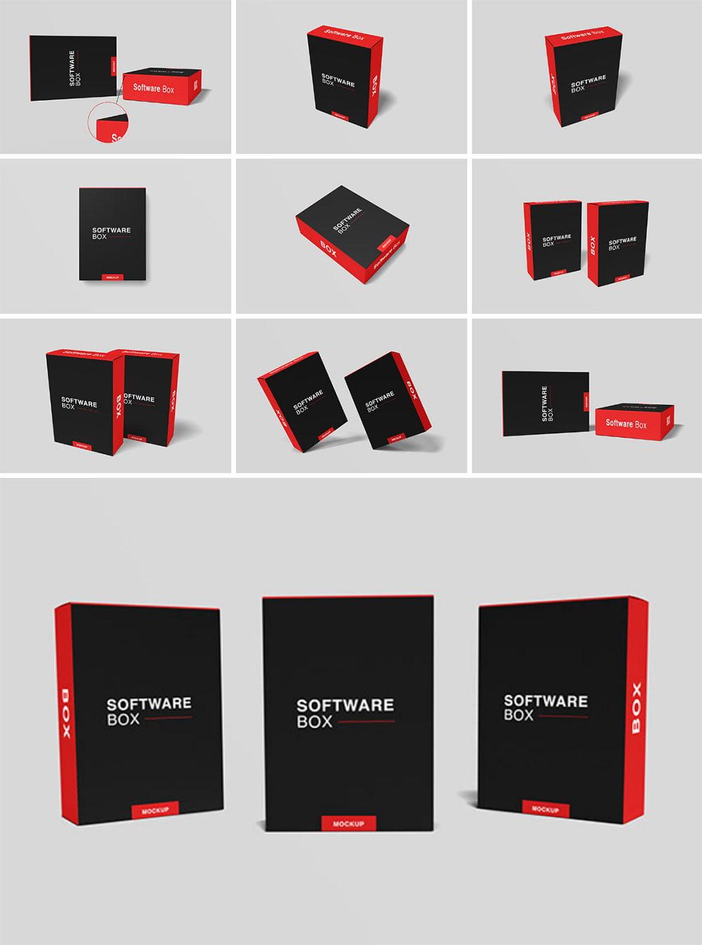 Download Free Realistic Software Box Mockup | Mockuptree