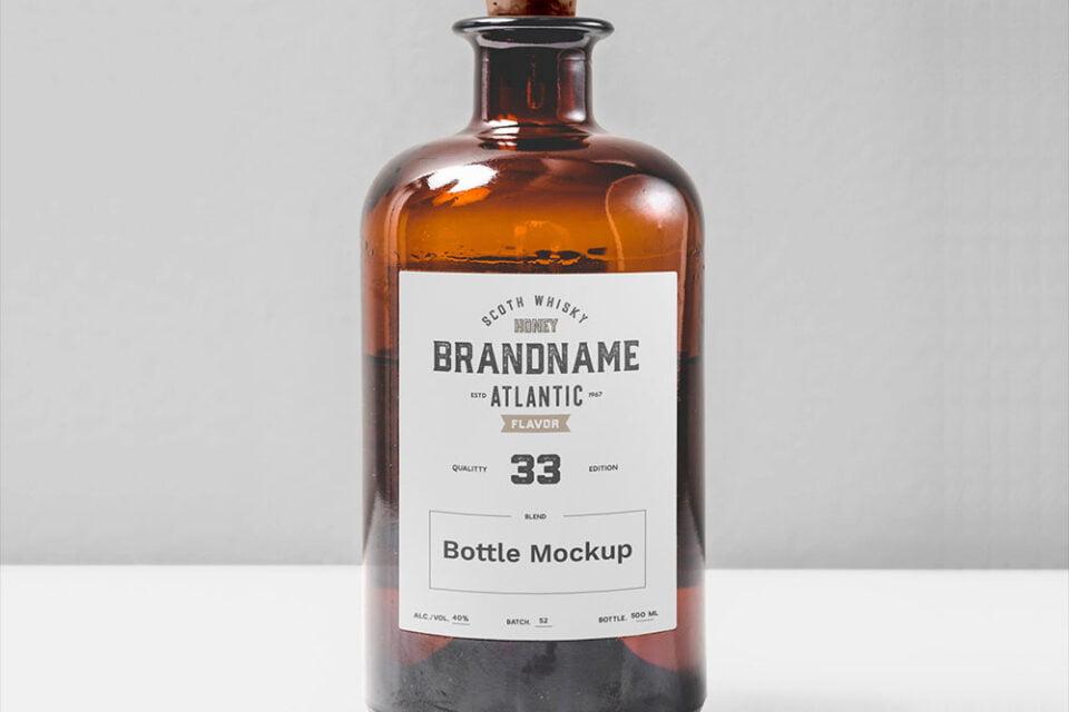 Box mockup, bottle label design expert! 125 Best Free Bottle Mockups For 2021 Mockuptree