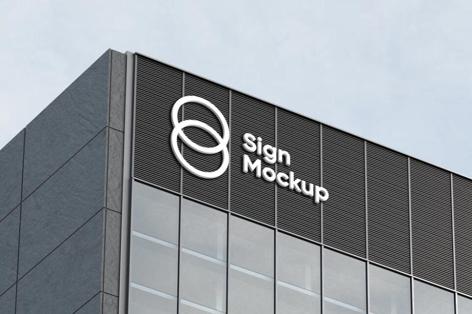 The template includes a variety of stationery items and smart objects for easy editing. 55 Best Free Signage Mockups For 2021 Mockuptree