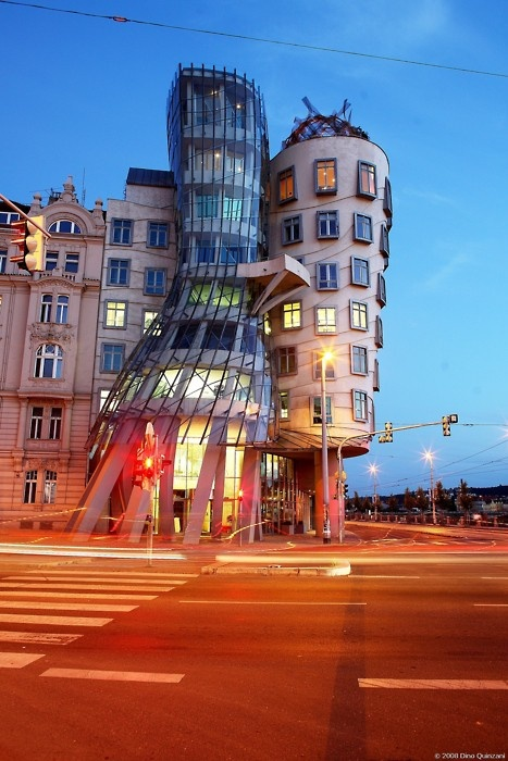 bizarre buildings Prague