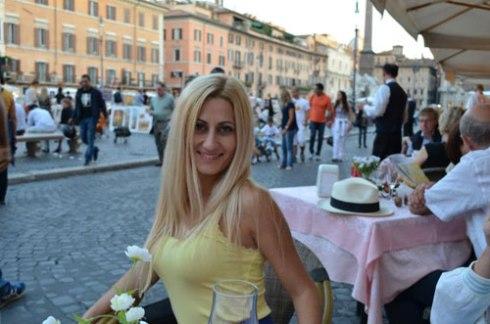 Rome city centre piazza Navona